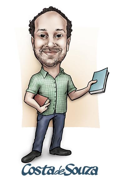 caricatura professor cor