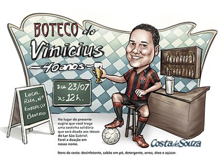 caricatura aniversario boteco bar festa