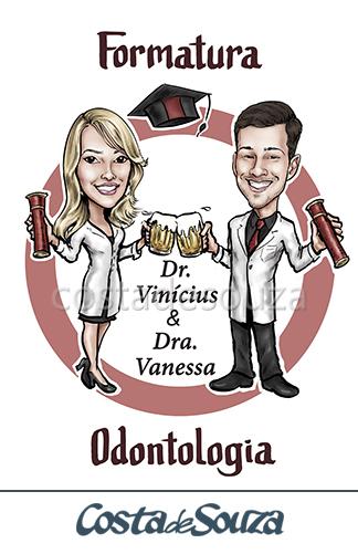 caricatura formatura odontologia