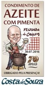 caricatura aniversario rótulo