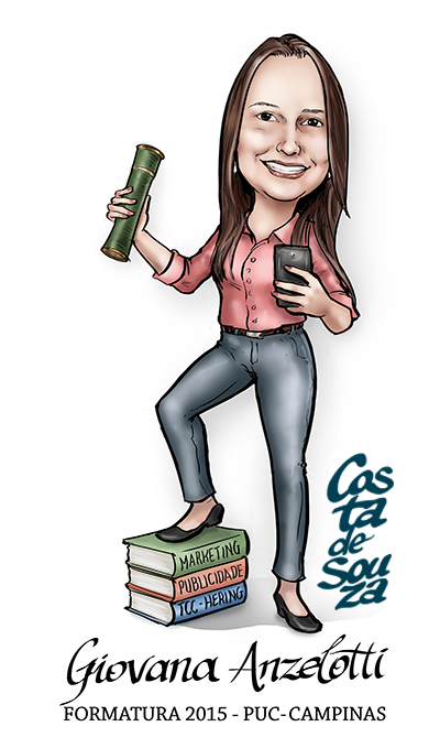 caricatura formatura publicidade