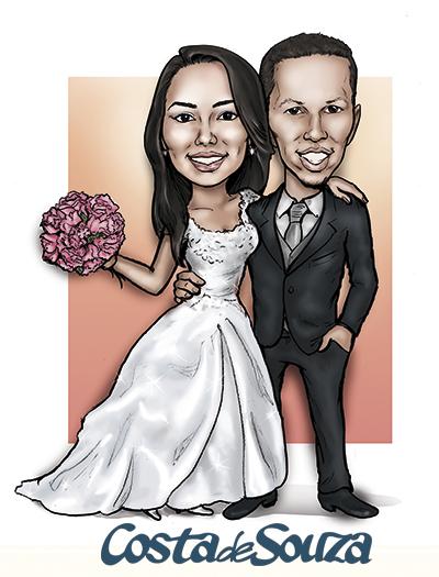 caricatura-casamento-noivos-costa