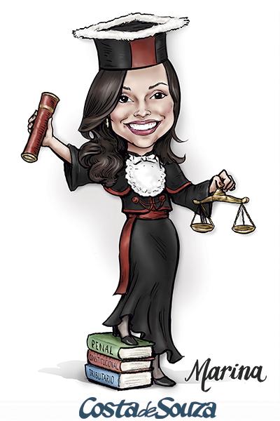 caricatura-formatura-direito-formanda