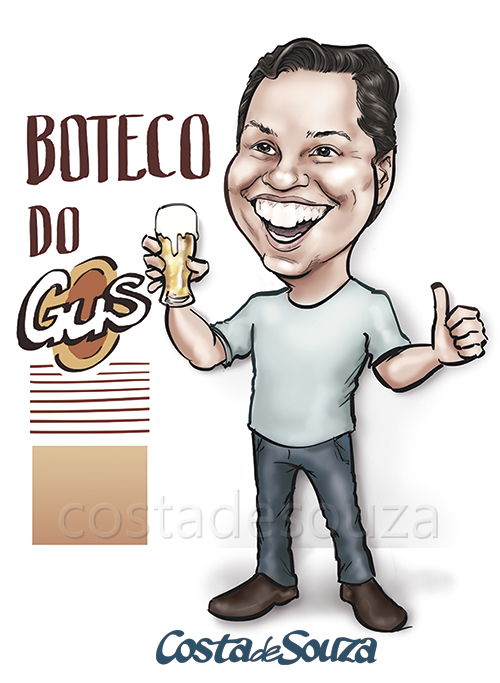caricatura-aniversario-boteco