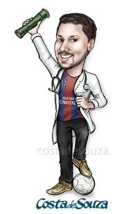 caricatura-formatura-medicina-futebol