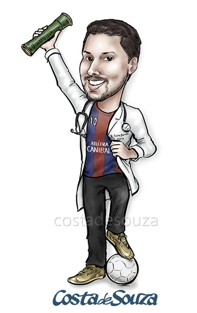 caricatura-formatura-medicina-futebol