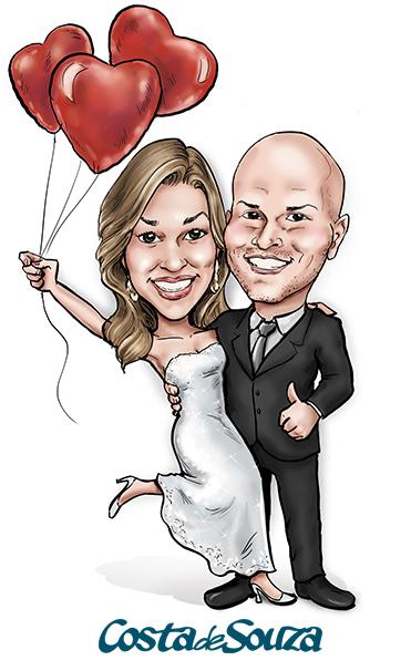 caricatura-noivos-casamento-convite
