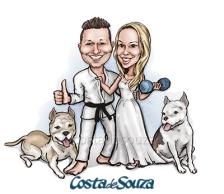 caricatura-noivos-casamento
