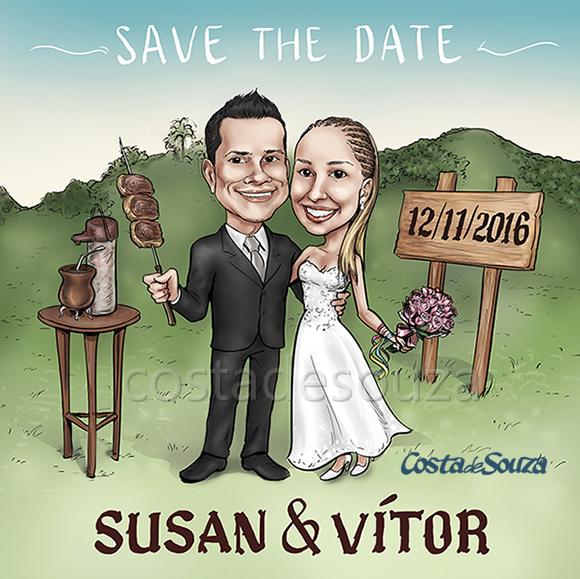 caricatura-noivos-fazenda-casamento
