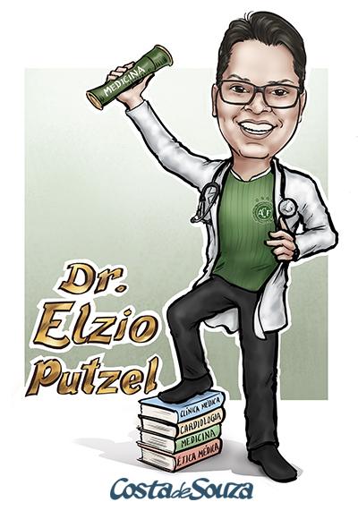 caricatura-para-formatura-medicina