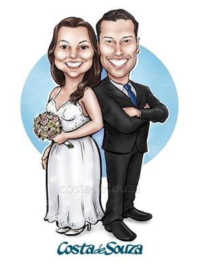 caricatura-casamento-noivos
