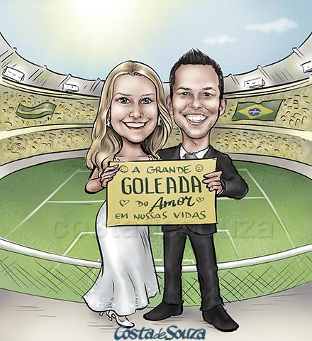 caricatura-casamento-noivos-futebol