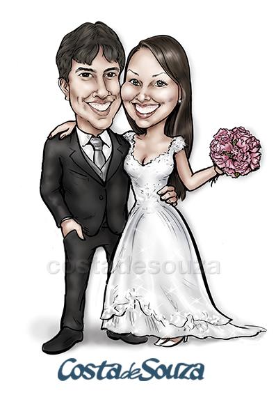 caricatura-casamento-noivos-quadro