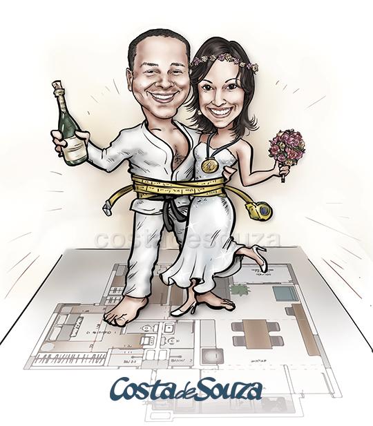 caricatura-noivos-casamento-arquitetura