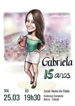 caricatura aniversário 15 anos festa
