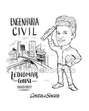 Caricatura formatura Engenharia Civil