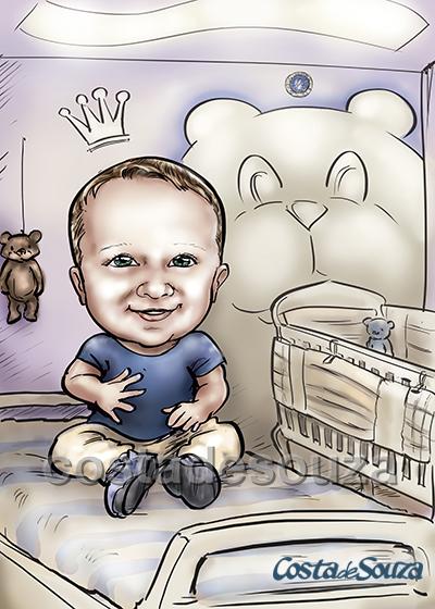 caricatura-menino-bebe-filho
