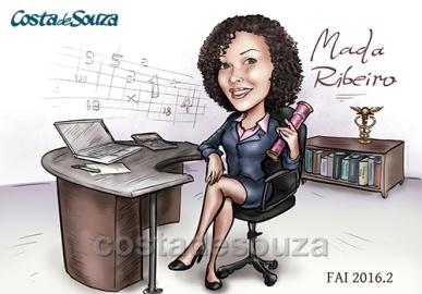 Caricatura formatura ciências contábeis formanda