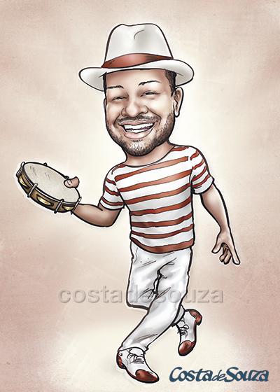 caricatura formatura samba