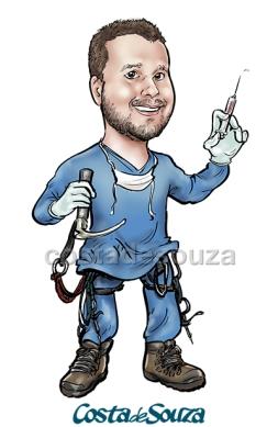 caricatura formatura medicina montanhismo