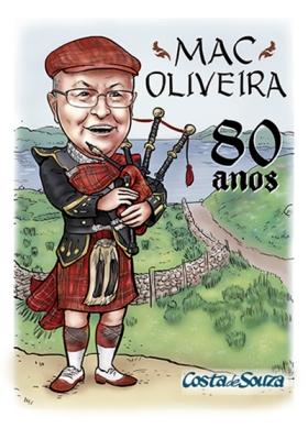 caricatura aniversário 80 anos escocia