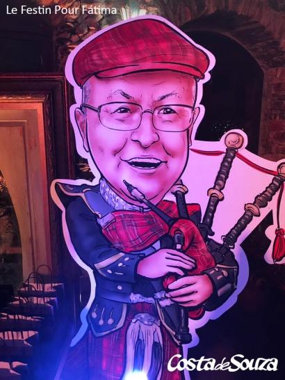 caricatura aniversário totem display
