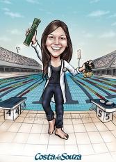 caricatura formatura medicina natação
