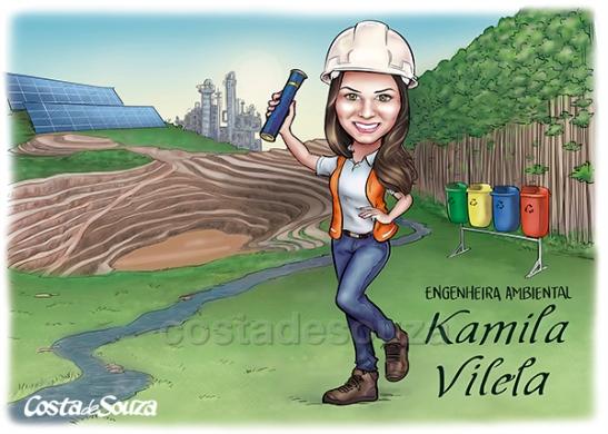 caricatura formatura engenharia ambiental