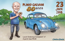 Caricatura aniversário 80 anos
