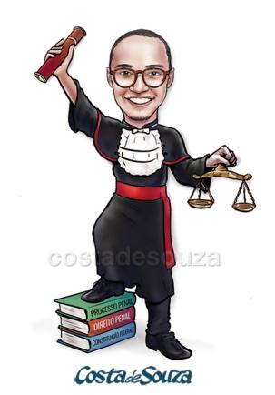Caricatura formatura Direito