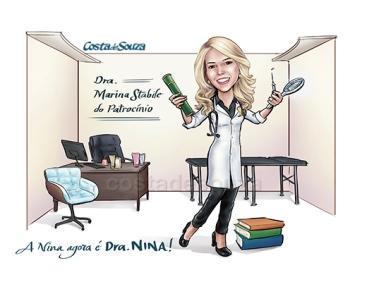 Caricatura formatura Medicina formanda