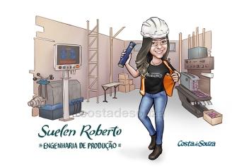 caricatura formatura engenharia produção