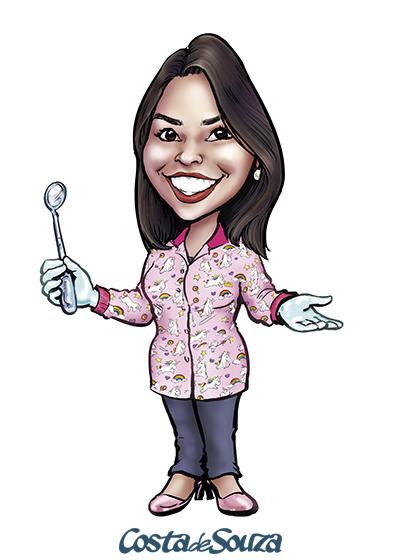 caricatura logomarca marketing dentista