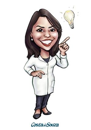 caricatura logomarca mascote dentista