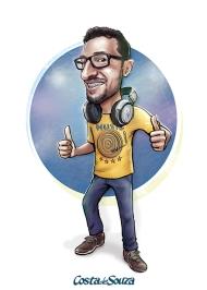 caricatura dj quadro encomenda