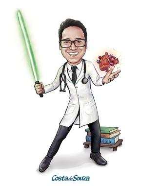 caricatura formatura medicina star wars