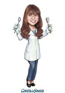 caricatura marketing avatar dentista