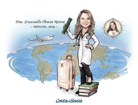 caricatura formatura medicina viagem