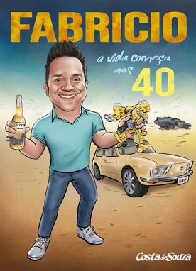 caricatura aniversário 40 anos mad max
