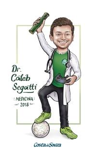 caricatura formatura medicina futebol