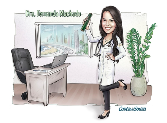 Caricatura formatura medicina graduation