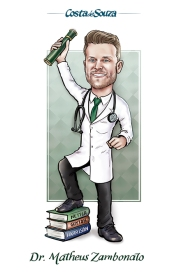 caricature formatura medicina graduation