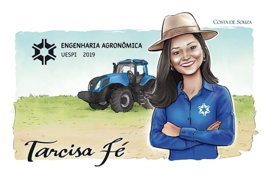 caricatura formatura encomenda engenharia agronomia