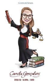caricatura formatura direito graduation
