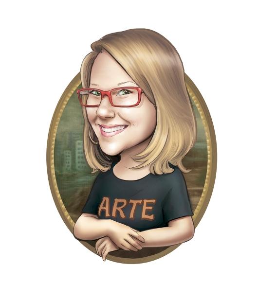 caricatura logotipo monalisa arte
