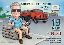 caricatura aniversário 60 anos caminhão
