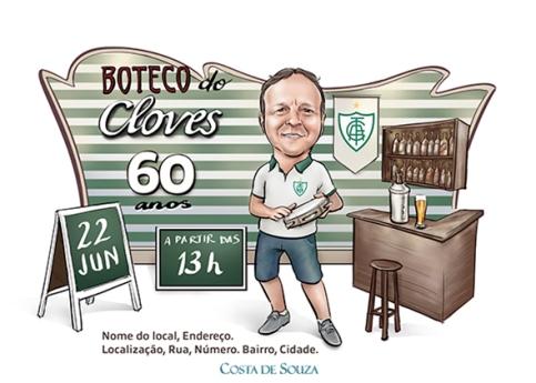 Caricatura aniversário boteco bar samba