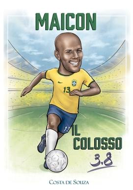 caricatura maicon futebol calcio seleção
