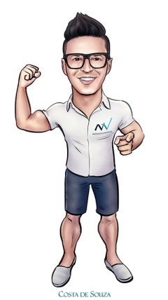 caricatura logomarca professor marketing