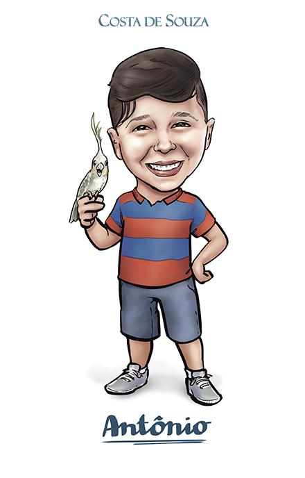 Caricatura aniversário infantil criança